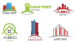 Logosamling vektor illustrationer