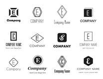 Logosammlung des Buchstaben E Lizenzfreies Stockbild