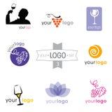 Logosammlung: großer Satz Firmenzeichen für verschiedene Firmen Lizenzfreie Stockbilder