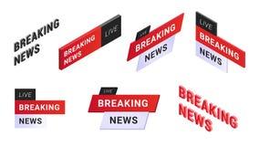 Logosatz der letzten Nachrichten lizenzfreie abbildung