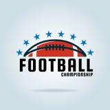 Logoschablone des amerikanischen Fußballs Lizenzfreies Stockbild