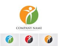 Logoschablone - erfolgreiche Leute Lizenzfreies Stockbild