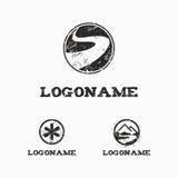 Logoschablone mit abgerieben Stockbilder