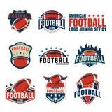Logoschablonensammlung des amerikanischen Fußballs stockfoto
