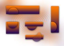Logoset arancione e viola Fotografia Stock Libera da Diritti