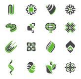 logoset för 2 samling Arkivbild