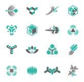 logoset för 4 samling royaltyfri illustrationer