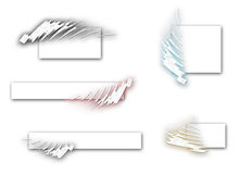 Logoset multi del color Imagen de archivo libre de regalías