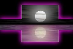 Logoset viola dell'acqua Fotografie Stock Libere da Diritti