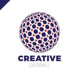 Logosfär med pricken Abstrakt jordklot för vektorlogotypboll vektor illustrationer