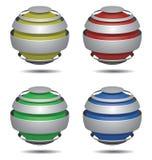 Logoshpere 4 färgar Arkivbild