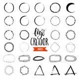 Logoskapare vektor illustrationer