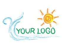 logosun royaltyfri illustrationer