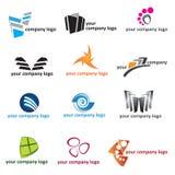 Logosymbolsset stock illustrationer