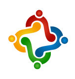 Logoteamwork-Händchenhalten Stockfoto