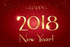 2018 logotecken, lyckliga nya år tapet Royaltyfri Foto