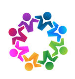 LogoTeilhaberteamwork Lizenzfreie Stockbilder