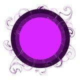 Logotipe roxo Foto de Stock Royalty Free