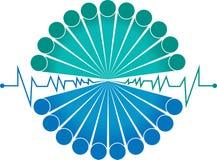 Logotipo à moda da batida da equipe ilustração royalty free
