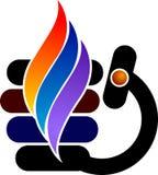 Logotipo à moda da flama ilustração stock