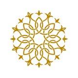 Logotipo árabe oriental do teste padrão do projeto geométrico Imagem de Stock Royalty Free
