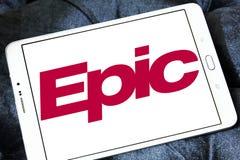 Logotipo épico de la compañía de los sistemas Imagenes de archivo