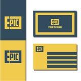 Logotipo épico del ejemplo del vector con diseño de la tarjeta de visita libre illustration