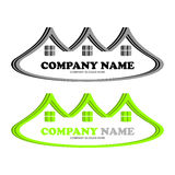 Logotipo único de Real Estate Imágenes de archivo libres de regalías