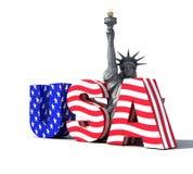 Logotipo 2 dos EUA Fotografia de Stock Royalty Free