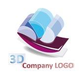 Logotipo 3d abstrato Imagens de Stock Royalty Free