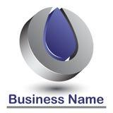 Logotipo 3d abstrato Imagens de Stock