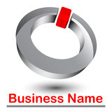 Logotipo 3d abstrato Imagem de Stock