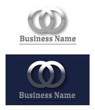 Logotipo 3d metálico Fotos de Stock Royalty Free