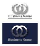 Logotipo 3d metálico Fotos de Stock Royalty Free