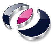 Logotipo 3d moderno Imagem de Stock