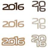 Logotipo 2016 Imagem de Stock Royalty Free
