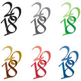 Logotipo 2018 Fotografia de Stock