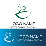 Logotipo abstracto de la colina de los pinos Stock de ilustración