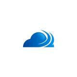 Logotipo abstracto de la tecnología de la nube medios Fotos de archivo libres de regalías