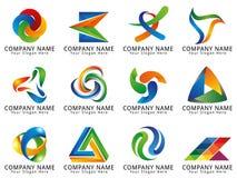 Logotipo abstracto del concepto de los medios 3D Imagen de archivo