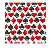 Logotipo abstracto del ejemplo del vector para los naipes del sistema en póker del juego Fotos de archivo libres de regalías