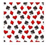 Logotipo abstracto del ejemplo del vector para los naipes del sistema en póker del juego Foto de archivo