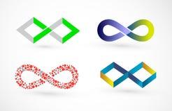 Logotipo abstracto del infinito para el asunto Ilustración del Vector