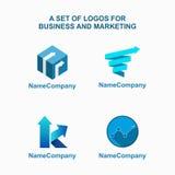 Logotipo abstracto del negocio y del márketing Imagenes de archivo
