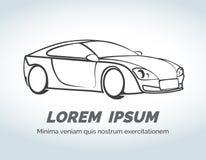 Logotipo abstracto del vector del coche para la raza, la tienda auto y Imagenes de archivo