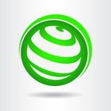 Logotipo abstracto del vector del globo Fotos de archivo