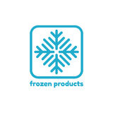 Logotipo abstracto del vector para los productos congelados ilustración del vector