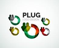 Logotipo abstracto - icono del enchufe Fotografía de archivo libre de regalías