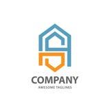 Logotipo abstracto letra SA stock de ilustración
