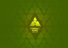 Logotipo abstracto verde y amarillo Foto de archivo libre de regalías